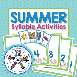 summer syllable and early literacy activities for preschool, pre-k and kindergarten