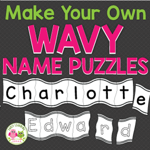 editable wavy name puzzles