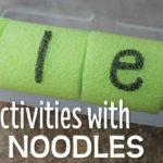 Make Name Activities for Kids from a Pool Noodle