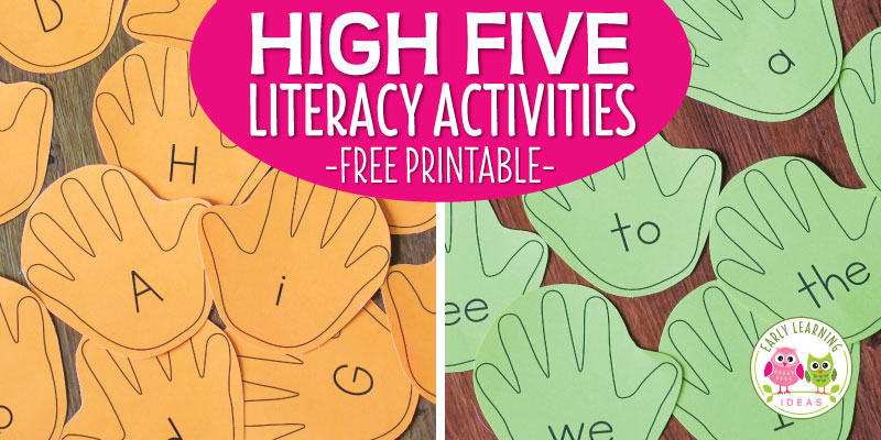 Fun Literacy Activities for Kids – Editable Handprint Cards