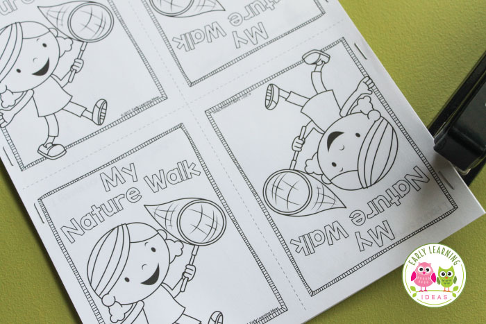 Use these free printable nature scavenger hunt books to encourage kids to write, draw, and read while exploring their world. Perfect for pre-k, preschool or kindergarten age kids. Use the free printables in the classroom, on the playground, during nature walks or hikes, on camping trips, in the backyard, or during summer camp. Use this emergent reader for your plant and seeds theme, spring theme, and pond theme unit and lesson plans. #preschool #preschoolactivities