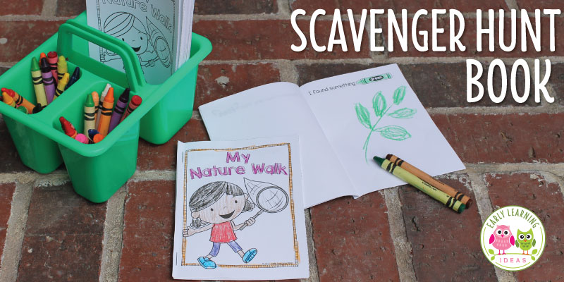 A Nature Scavenger Hunt Book for Kids [Free Printable]