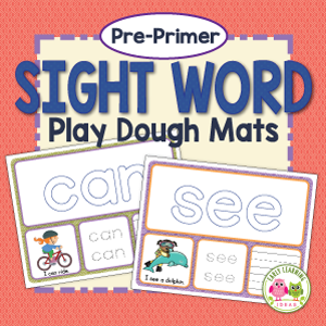 pre-primer sight word activity mats