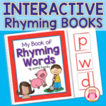 interactive rhyming books and rhyming activities for preschool, pre-k, kindergarten, TK, KG, and RTI