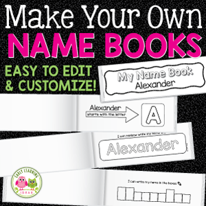 editable name practice books