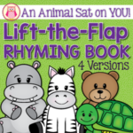 Rhyming Lift-the flap name book for preschool, pre-k and kindergarten