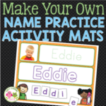 name practice activity mats