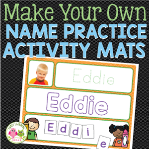 editable name practice activity mats