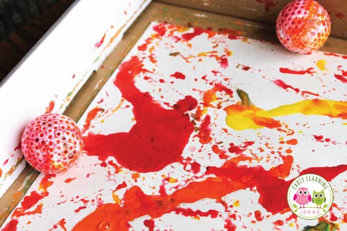 Art for Preschoolers: Painting with Marbles and Balls ...