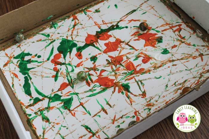 Art For Preschoolers Painting With Marbles And Balls
