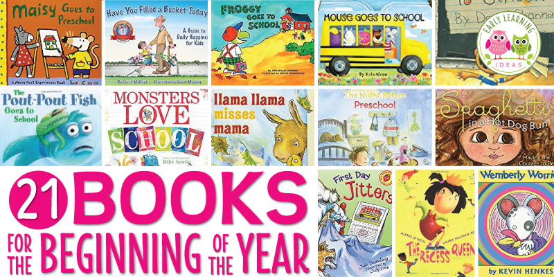 Here are some great ideas for books for the beginning of the school year for your preshool and pre-k classroom. Help kids get adjusted to new routines and circle time during the first week with these favorite books suggested by teachers. Parents will also welcome some of the suggested title. Perfect for your all about me theme and back to school theme in early childhood classroom. Of course..... my favorite is Pete the Cat. #preschool #beginningoftheyear