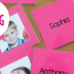 Name Activities with Name Matching Cards