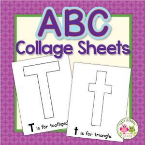 alphabet collage activity sheets