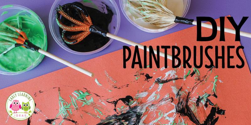 Preschool Art Ideas for Fall:  DIY Paintbrushes