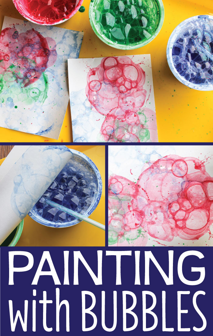paint craft ideas activities for painting with bubbles early 2593