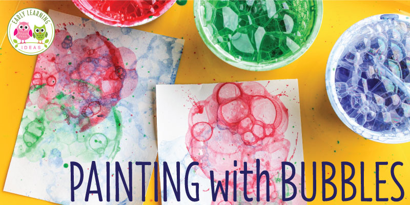 Art Activities for Kids:  Painting with Bubbles