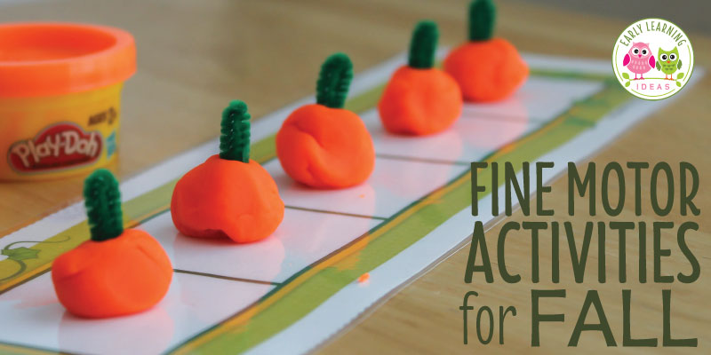 7 Fine Motor Activities for Fall [Two Free Printables]