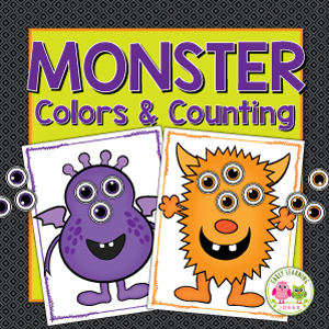 monster color sorting and counting activity