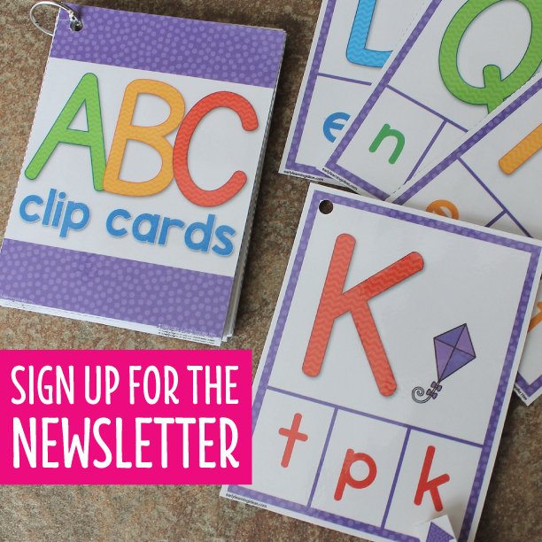 Free ABC Clip Cards