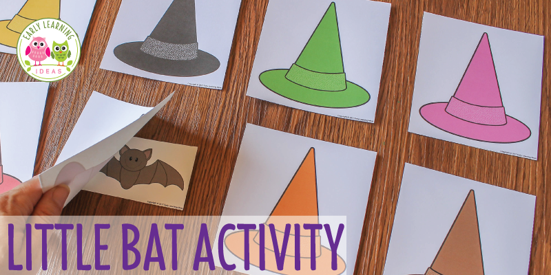Preschool Halloween Game:  Little Bat Printable