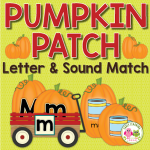pumpkin alphabet and beginning sound activity for preschool and pre-k