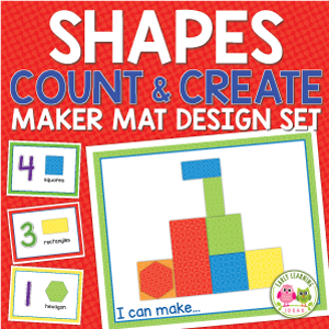 Preschool STEAM counting and creating shape activity set