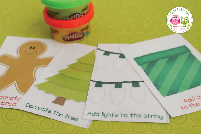 Christmas Play Dough Mats A Holiday Gift For Kids Free