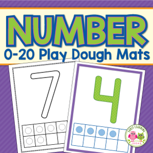 number play dough activity mat