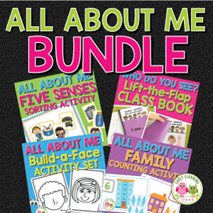 all about me activity bundle