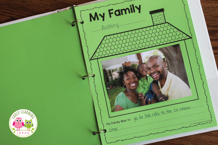 Looking for activities and ideas for your My Family or All about Me theme unit or lesson plans in your preschool or pre-k classroom? You will love this free printable activity sheet. Kids can draw pictures or add a photo of their family. Use as a take home activity to get parents to help. Display on the bulletin board or bind all your students' pages together to make a class book to share at circle time or leave in your class library. Use at Thanksgiving or during the first week too.