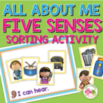 five senses sorting activity