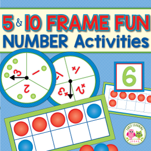 ten frame activity and counting game for preschool and kindergarten