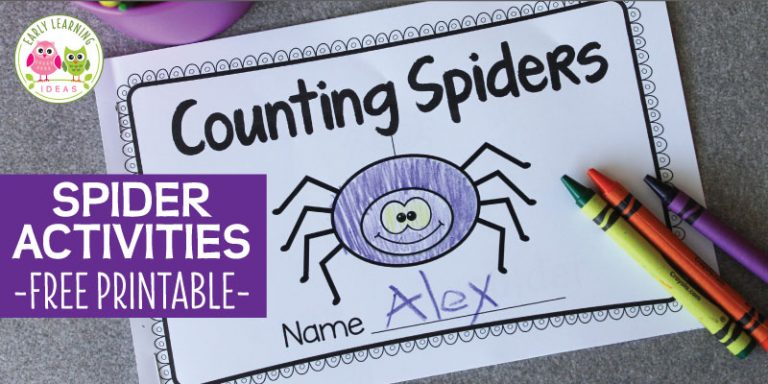 Spider Activities and a Free Printable Spider Emergent Reader