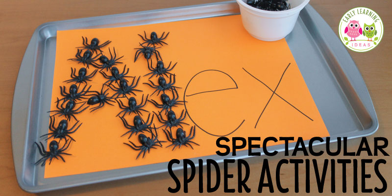 Spider activities ideas for kids using magnetic spiders that you can easily make. You will also find a free spider counting emergent reader in the post. The spider and Halloween activities are great for preschool, pre-k, tot school, kindergarten, and early childhood education.
