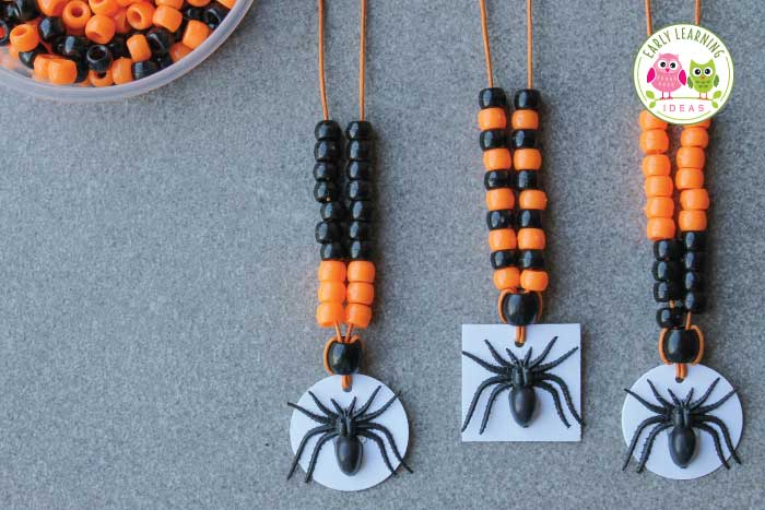 Here are some great spider activities for kids. Ideas include fine motor, counting, process art activities that are perfect for Halloween or anytime of year. Perfect for preschool, pre-k, and kindergarten spider theme, October, or Halloween theme units, or Halloween party crafts or activities.