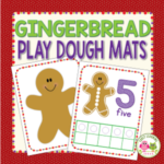 gingerbread play dough math activities for preschool and pre-k