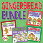 gingerbread math and literacy activities for preschool and pre-k