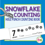snowflake counting hole punch book