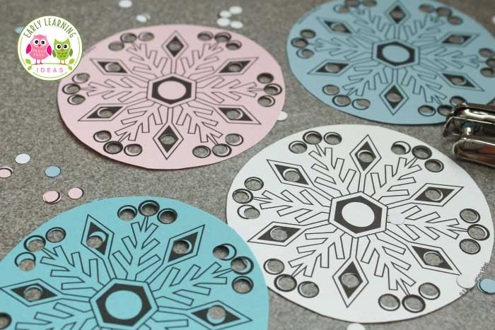 Simple Snowflake Fine Motor Activity For Kids Free Printable Early Learning Ideas