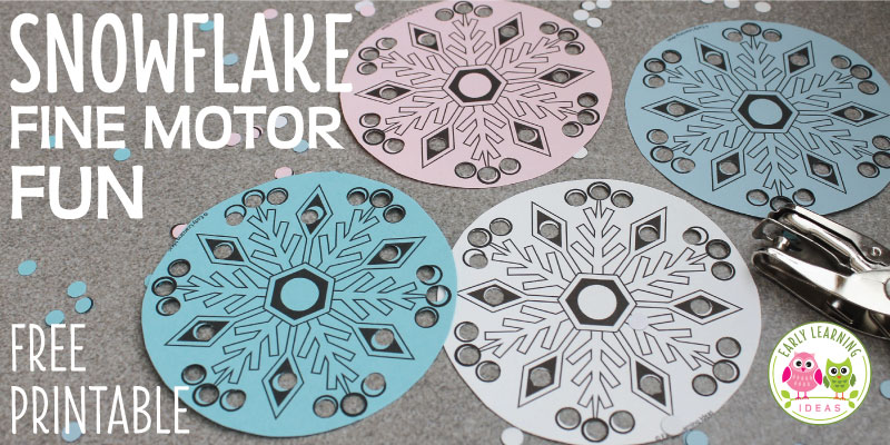 Simple Snowflake Fine Motor Activity for Kids [Free Printable]