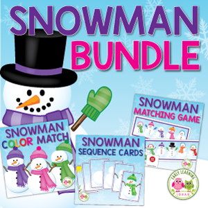 snowman activities for preschool and pre-k