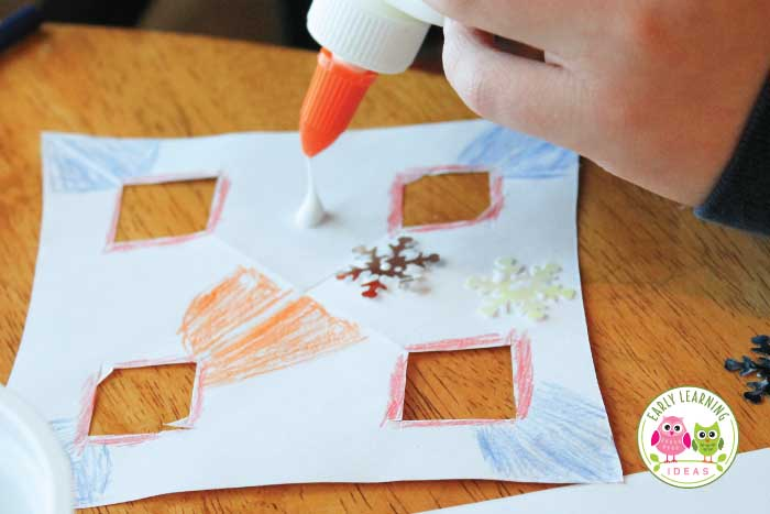 Help young kids experience success while making snowflakes.  Use paper snowflake cutting templates or patterns. Kids can decprate a hole punch and the addition of sequins, crayons, and glitter.  Check out these ideas for fine motor activities for your preschool, pre-k, kindergarten, and occupational therapy classroom.  Work on scissor skills .... perfect for your winter theme, snow theme, and holiday theme unit and lesson plans.  #finemotor #preschool #winteractivitesforkids