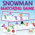 snowman matching game