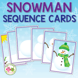 how to build a snowman sequencing activity