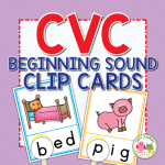 Beginning sound word family clip card activity
