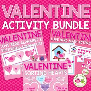 valentines day activity bundle