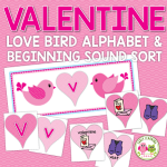 valentines day alphabet and beginning sound matching activity