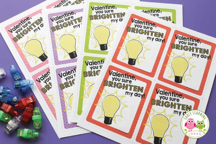 Here are some free printable non-candy Valentine's Day Cards for kids. Add a finger light, a glow stick, or a little flashlight for loads of fun. Perfect for your preschool, pre-k, kindergarten classroom, Valentine's party, or small group. Teacher Valentine's Day card, Valentine's day card for kids. Free printable Valentine's day card.