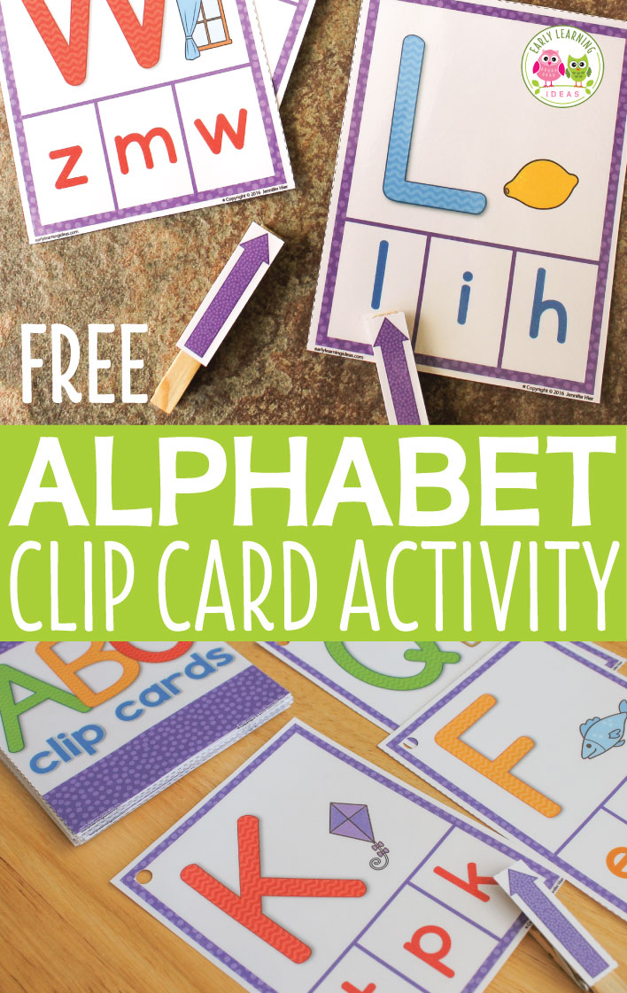 ABC Activity [Free Printable Clip Cards} - Early Learning Ideas