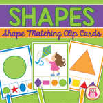 shape activity clip cards